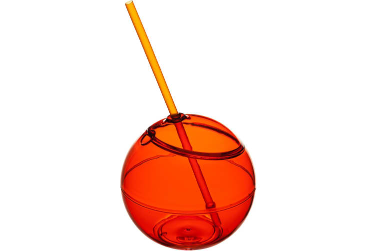 Bullet Fiesta Ball And Straw (Pack of 2) (Orange) (23 x 12 cm)