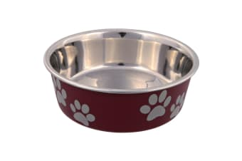 Trixie Plastic Coated Stainless Steel Dog Bowl - ASRTD (Assorted) (1.5 L)