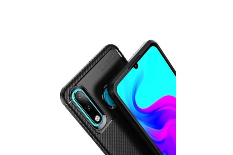 Phone Case Carbon Fiber TPU Phone Protection Cover Simple Lightweight Mobile Phone Protector for HUAWEI P30 pro-brown