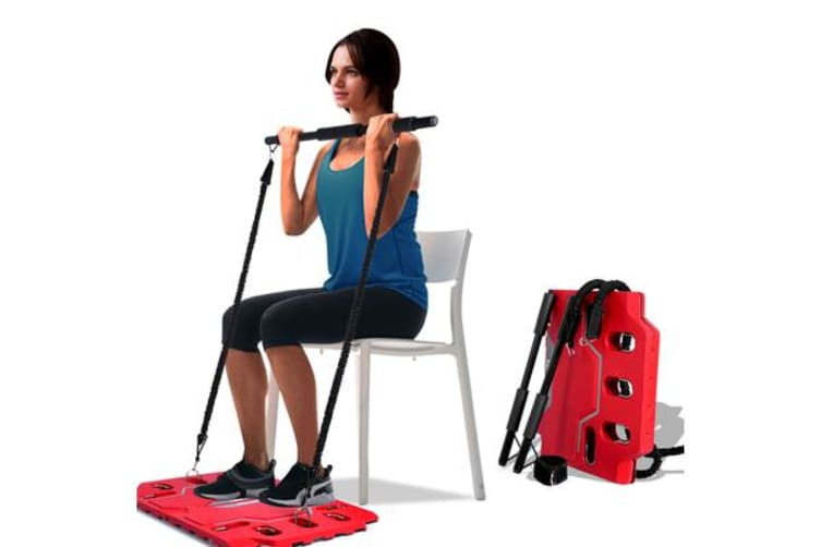 Portable Gym Full Body Workout Resistance Bands Red