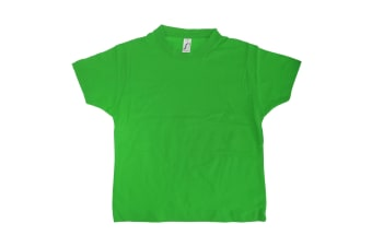 SOLS Kids Unisex Imperial Heavy Cotton Short Sleeve T-Shirt (Kelly Green) (2yrs)