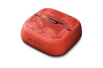 Sol Republic Red Punk Portable Pocket Bluetooth Speaker/Aux/Sand/Water Resistent