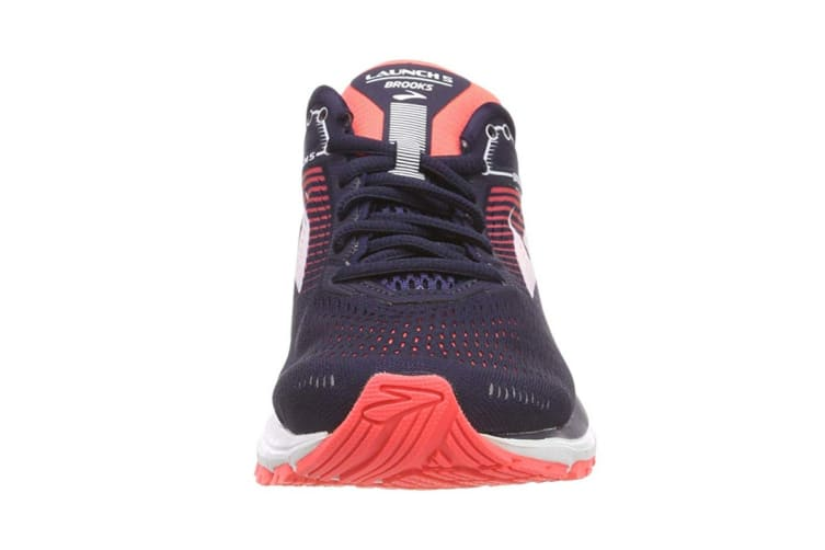 Brooks Women's Launch 5 (Navy/Coral/Purple, Size 8)