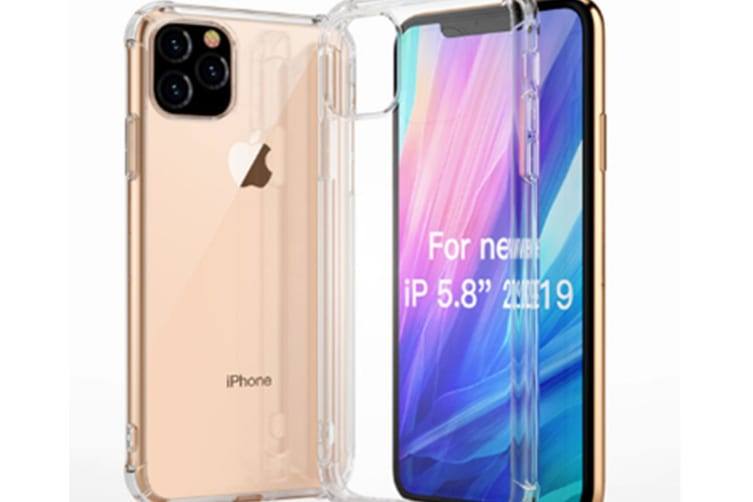 Select Mall Drop Protection Cover Acrylic Transparent Mobile Phone Case Compatible with Series IPhone 11 Case-White Iphone11 PRO 5.8 inch