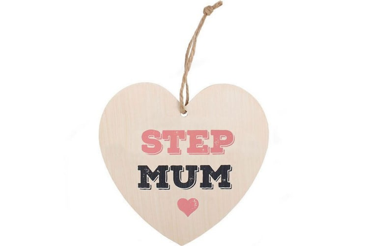 Something Different Step Mum Hanging Heart Sign (Multicoloured) (One Size)