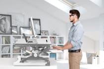 Kogan Height Adjustable Standing Desk Riser (Large, White)