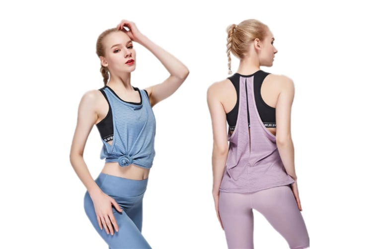 Women Sexy Loose Gym Sport Vest Training Run Yoga Tank Top Pink L