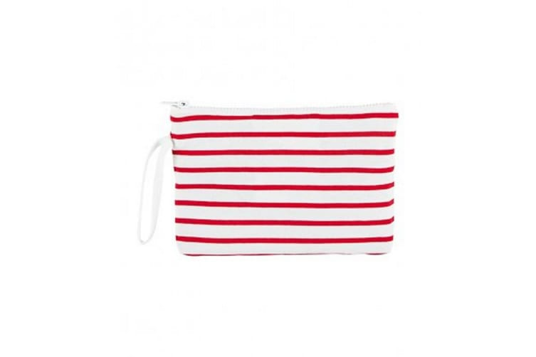SOLS Aurora Striped Jersey Case (White/Red) (One Size)
