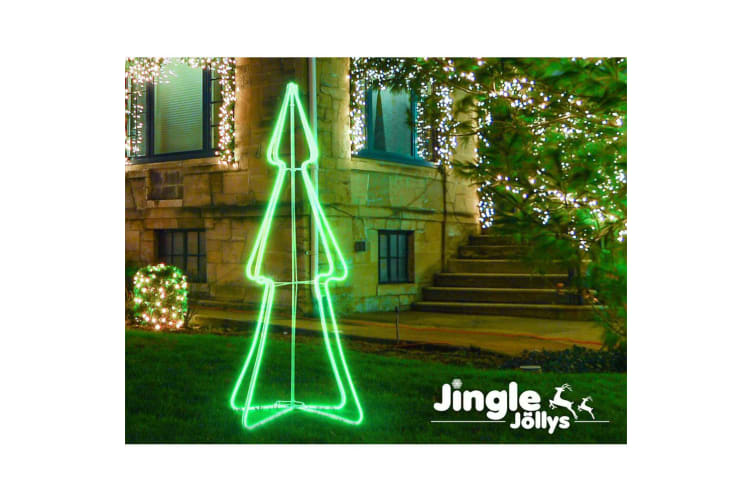 Jingle Jollys LED Christmas Lights Motif Tree Decorations Outdoor Festival 1.2M