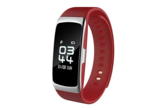 "Bluetooth V4.0 Fitness Band 0.73"" Pmoled Heart Rate Blood Oxygen Ip68 Red"