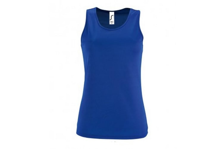 SOLS Womens/Ladies Sporty Performance Sleeveless Tank Top (Royal Blue) (S)