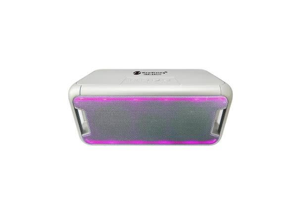 Bluetooth V2.1 Portable Wireless Stereo Speaker Rechargeable Led Usb Tf Fm Silver