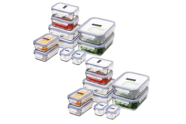 10pc Glasslock Tempered Glass w Lid Food Box Storage Container Set BPA Free