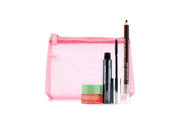 Clinique Power Lashes Mascara Set: 1x Lash Power Mascara, 1x All About Eyes Rich, 1x Cream Shaper For Eyes, 1x Bag (3pcs+1bag)