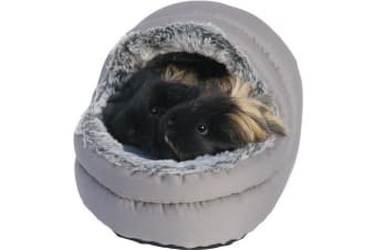 Rosewood Snuggles Two Way Hooded Pet Bed (Grey) (One Size)