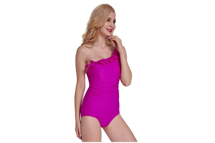 Women'S One Piece Swimsuits Skull Beach Swimwear With Adjustable Strap Rose Red Xl
