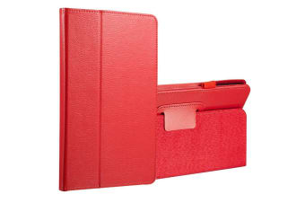 For Samsung Galaxy Tab A 8.0 SM-T380 T385 Case Lychee Leather Cover Red