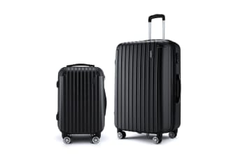 Hard Shell Luggage set of 2 w/ TSA Lock - Black