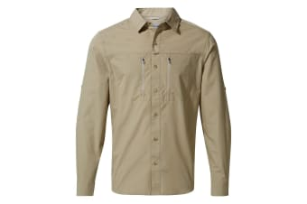 Craghoppers Mens Kiwi Boulder Long Sleeved Shirt (Rubble) (M)