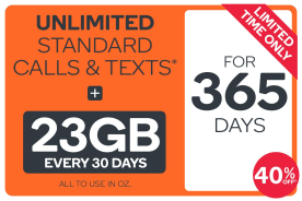 Kogan Mobile Prepaid Voucher Code: EXTRA LARGE (365 Days | 23GB Per 30 Days) - 40% Off