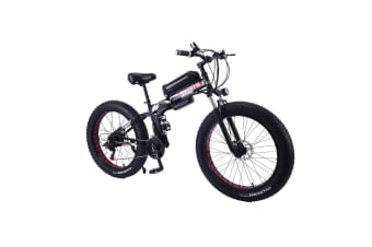 "TAOCI 350W 36V LH Snow Motorized Bicycle Beach Electric Bike eBike 26"" with Battery Black"
