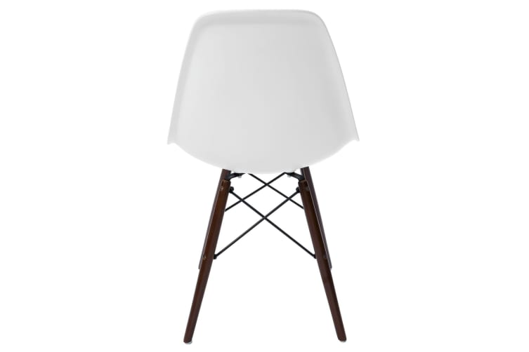Replica Eames DSW Eiffel Chair | Walnut Legs | White