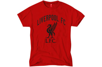 Liverpool FC Mens Crest T-Shirt (Red)