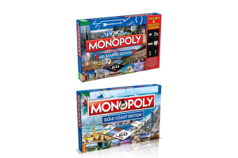 2x Monopoly Kids/Family Board Game 8y+ Australian Melbourne & Gold Coast Edition