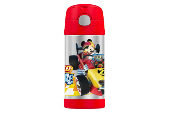 Thermos Funtainer 355ml Insulated Stainless Steel Water Drink Bottle Mickey Red