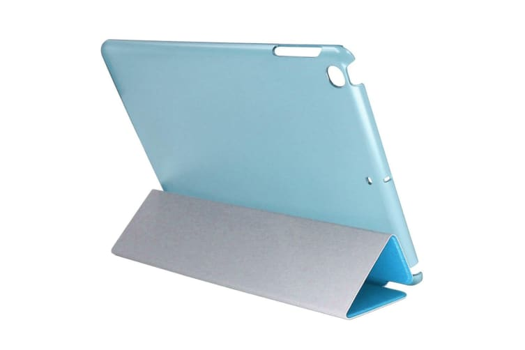 For iPad 2018 2017 Case Elegant Silk Textured Smart Durable Leather Cover Blue