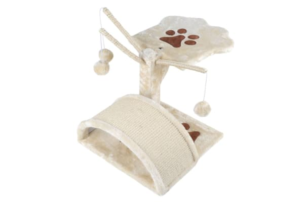 Cat Scratching Poles Post Furniture Tree House (Beige)