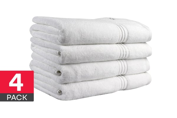 Onkaparinga Ethan 600GSM Bath Towel 4 Pack (White)