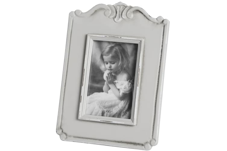 Hill Interiors Fleur Single Photo Frame (Grey) (Small)