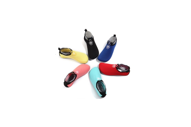 Water Socks Soft Slippers Sports Aqua Shoes Wading Diving Shoes Barefoot Shoes Yellow 38-39