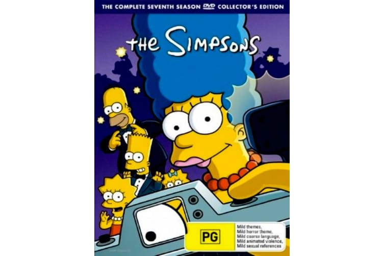 The Simpsons : Complete Season 7 -Animated Series Region 4 DVD PREOWNED: DISC LIKE NEW