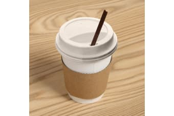 110/220/440x Disposable White Paper Coffee Cups 360ML/12oz Takeaway Hot/Cold  -  440 Set