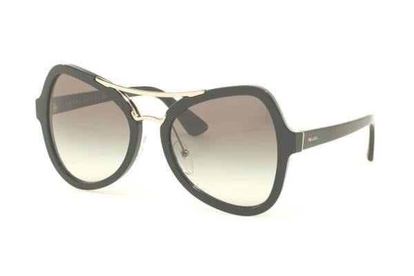 Prada PR18SS 55mm - Black (Grey Shaded lens) Womens Sunglasses