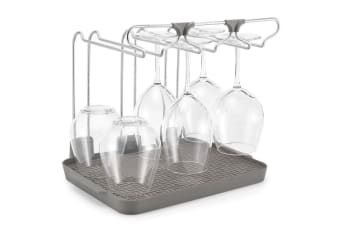 51fa508c4 Polder Wine Glass Drying Rack Glasses Holder Stand Kitchen Storage  Organiser GRY