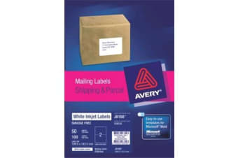 AVERY INKJET LABELJ8168-50 50 SHEETS