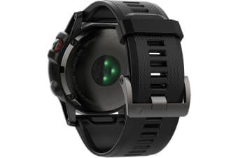Garmin Fenix 5X Smart Watch - Sapphire Edition Slate Gray Black Band