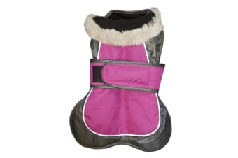 Happy Pet Products 2-in-1 Thermal Dog Coat (Raspberry)