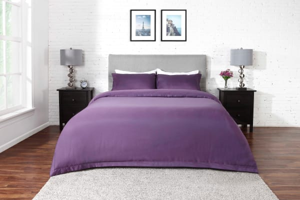 Ovela 1000TC Cotton Rich Luxury Quilt Cover Set (Queen, Lilac)