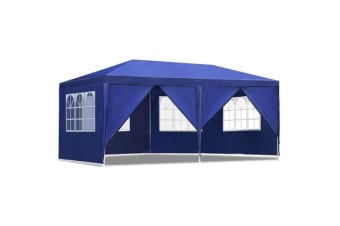 Instahut 3x6m Gazebo Tent Party Wedding Marquee Event Outdoor Camping Blue