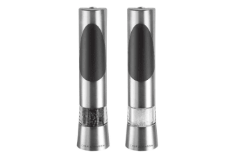 Cole & Mason Richmond Electronic Salt And Pepper Mill Set (Silver/Black)