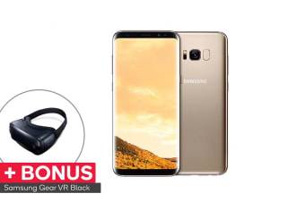 Samsung Galaxy S8+ (64GB, Maple Gold) VR Bundle - Australian Model