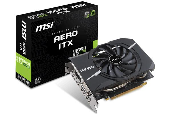 MSI NVIDIA GTX 1070 AERO ITX 8GB OC Video Card - GDDR5 2xDP/2xHDMI/DVI VR Ready 1531/1721MHz