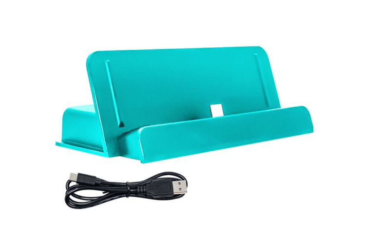 Select Mall Portable Charger Station Battery Charger Case Game Host Game Charger with Stand for Switch Lite-Blue