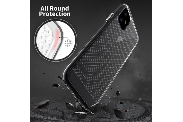 For iPhone 11 Case  Shockproof Protective Clear Grippy Phone Cover Transparent