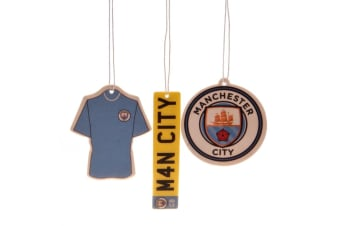 Manchester City FC Air Fresheners (Pack Of 3) (Multicoloured) (One Size)