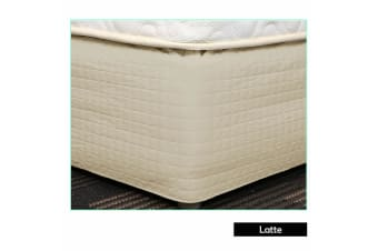 Easy Fit Quilted Valance Latte - Double
